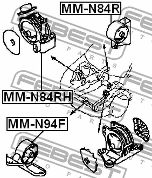 Refacciones Automotrices Mm N94f Almohada Del Motor