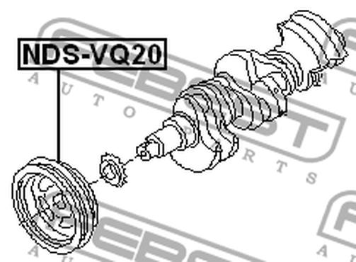 Autoparts Nds Vq20 Crankshaft Pulley Engine Vq20de